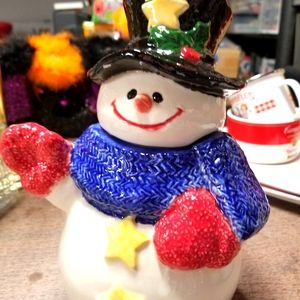 Christmas Snowman cookie/candy jar